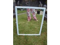 shabby chic mirror painted in duck egg