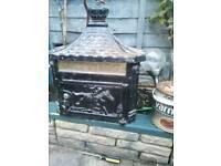 Antique cast iron letterbox