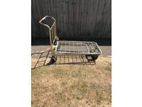 A steel trolley