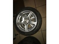 Set of 15in alloys and tyres with good thread for sale