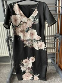 Floral black dress size 12