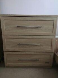 Mamas And papas Murano nursery furniture cotbed wardrobe drawers
