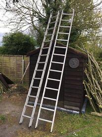 Extension aluminium ladder -used