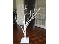 Large soft-white, wedding/wishing tree with flexible branches brand new