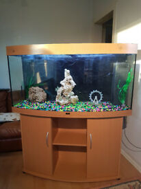 260 LITER, 4FT JUWEL BOW FRONTED FISH TANK AND STAND FOR SALE,