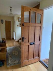 Solid handmade oak external door