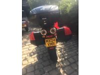 Ducati Multistrada 1000DS with panniers in very good condition