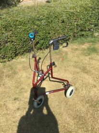 Try walker/ rollator, hardly used, good condition