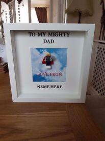 Large 3D box frame, Superhero Dad
