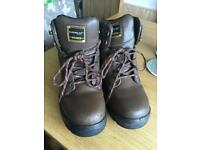 Dunlop steel toe safety work boots