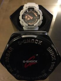 G-shock white n rose gold, brand new
