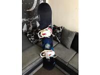 Salomon snowboard with bindings