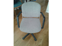 Office Chair with Removeable arms - Gas powered Height adjuster - Grey