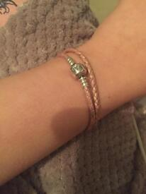 Pandora pink woven bracelet