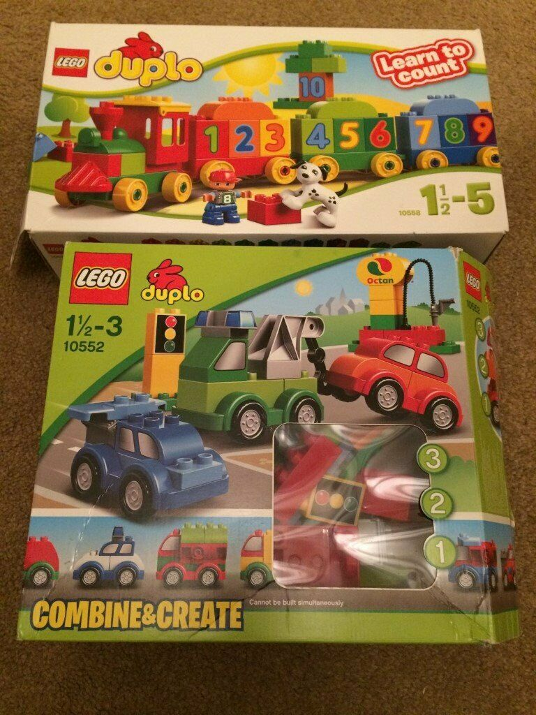 2 Sets Of Duplo Number Train Cars In Westhoughton Manchester