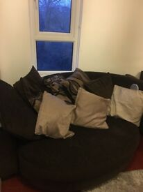 DFS cuddler sofa with speakers £300!!!!! good condition. iPod, Bluetooth, USB and AUX connectors.