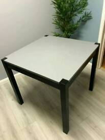 Small painted solid oak dining table