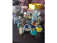 Snowgobes and Paper Weights Collection