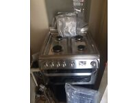 Silver Hot point Gas cooker 60cm.....Ex Display Mint..free delivery