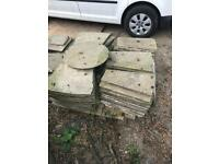 Slabs Indian paving stone sun circle large