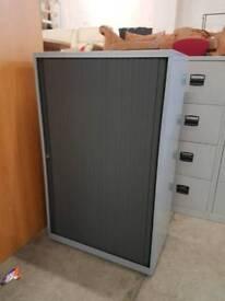 Mid height grey tambour door unit