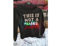 Kids size 6 Christmas jumper
