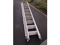 TRIPLE ALUMINIUM EXTENSION LADDERS FOR SALE. COULD DELIVER.