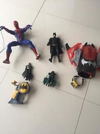 Barious Batman & Spiderman Figures