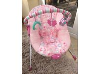 Deluxe Baby Bouncer in Pink - Chad Valley