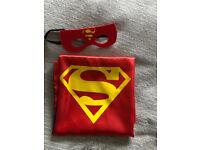 Kids Fancy Dress Costume Party Halloween Cape Superhero Supergirl Superman