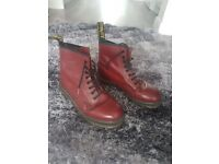 Dr Martens Cherry Red Boots Size 6