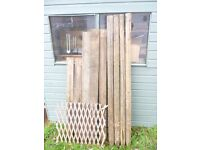 Selection of wooden garden stakes for sale