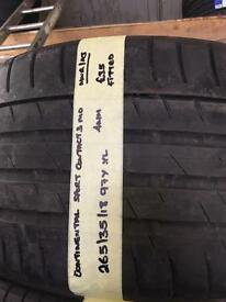 265/35/18 97Y XL CONTINENTAL SPORT CONTACT3 MO TYRE