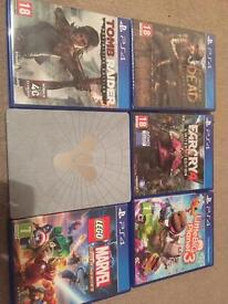 Ps4 games Farcry Marvel Tomb Raider Lego Walking Dead Little Big Planet 3 Destiny