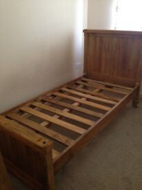 Solid Oak Frame Single Bed