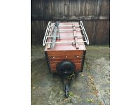 """Trailer 49"""" x 31"""" x 27"""" deep with lights, spare wheel and cycle rack"""