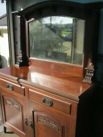 VINTAGE ORNAE MIRROR BACKED SIDEBOARD. TOP DETACHABLE. VIEWING/DELIVERY AVAILABLE