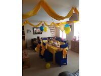 Beauty and the Beast birthday decorations, complete party
