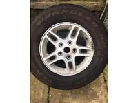 "Jeep Grand Cherokee 1999/2005 Wj16"" Alloy Wheel With 245/70/16 Goodyear Tyre"