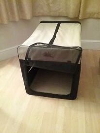 Canvas pet crate