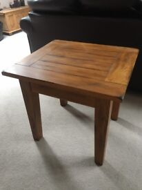 Solid wooden lamp table or small coffee table - Immaculate