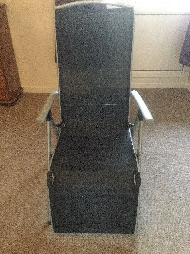 Black And Silver Sun Lounger