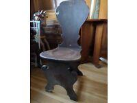 Childrens Oak Chair/seat very unusual