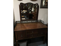 Gorgeous Antique Mahogany Dressing Table with Mirror