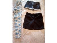 size 8 ladies jeans and shorts bundle £5