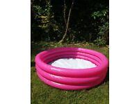 3 Ring Paddling Pool - Pink