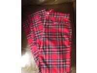 Ladies tartan h & m trousers