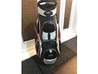 Powakaddy leather deluxe golf bag