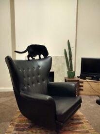 Retro Swivel Rocking Armchair