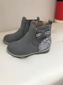 Girls Grey/Silver Boots Mothercare